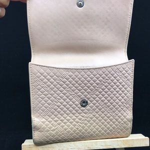 CHANEL Bags - CHANEL CC LOGO QUILTED LEATHER BIFOLD PINK WALLET